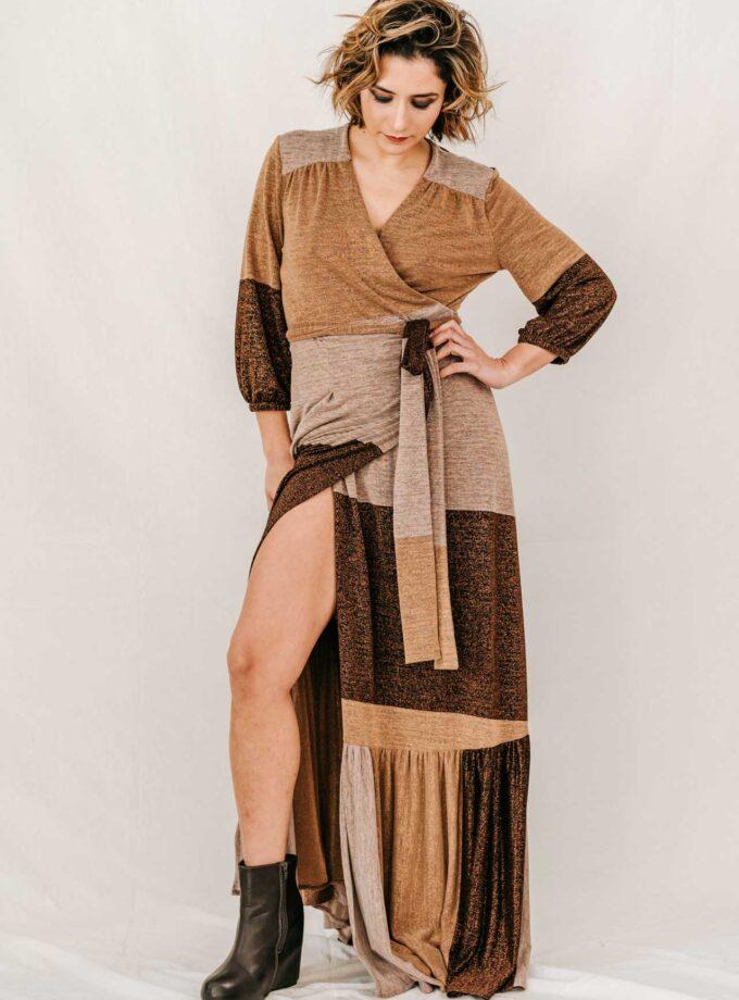 CIOCCOLATO - Wrap-dress Long 1