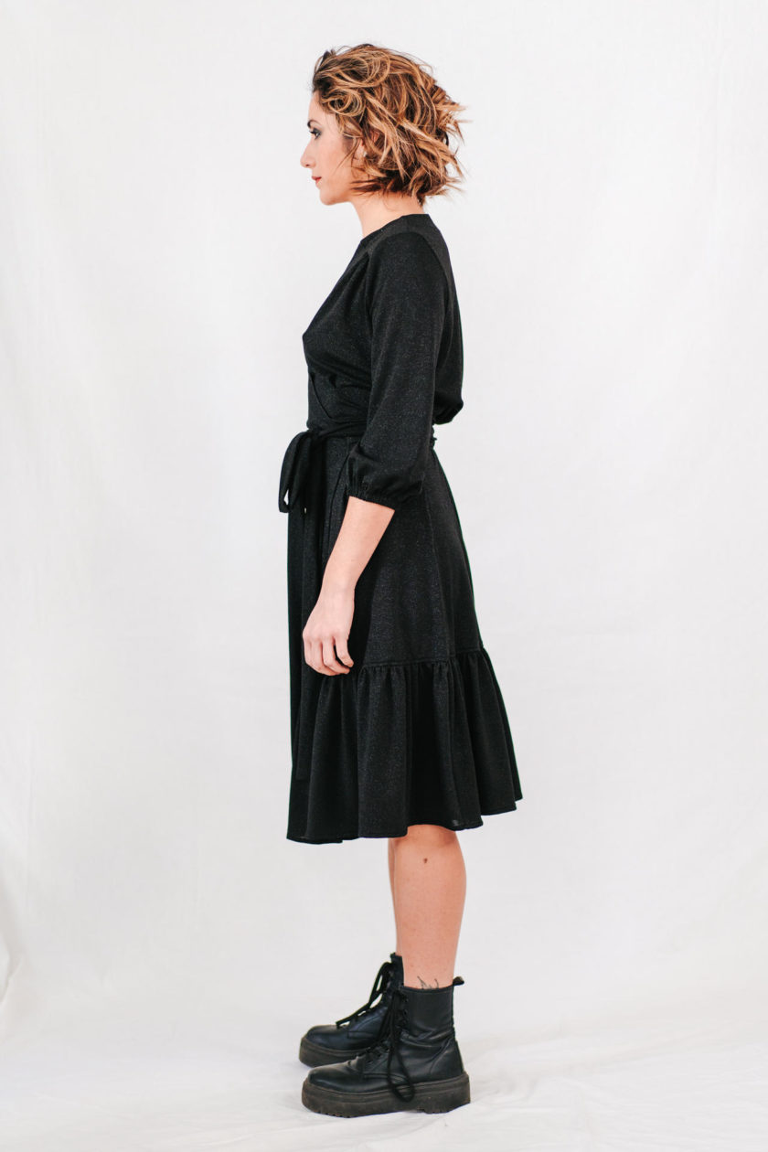 GUERRIERA - Wrap-dress Midi Side